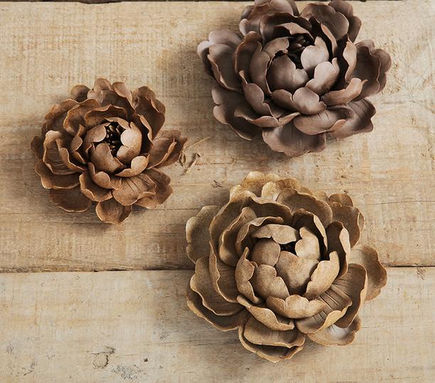北欧设计创意小摆件 陶泥牡丹 美式乡村装饰品家居桌面摆设