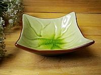 外贸出口日式和风碗碟 陶瓷餐具翘角浮雕碗 四方碗 沙拉碗 冰裂釉
