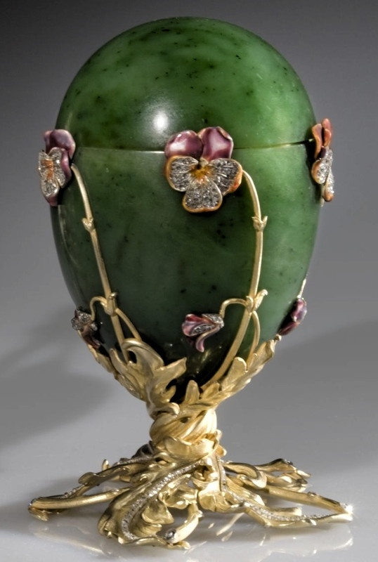 Pansy Faberge Egg, 1899  ~ presented by Nicholas II to Dowager Empress Maria Fyodorovna by janie
