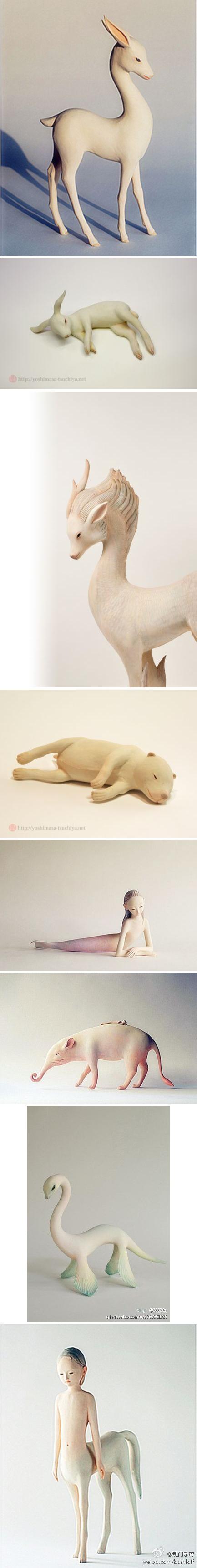 日本艺术家Yoshimasa Tsuchiya灵性木雕品欣赏