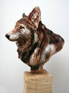 来自艺术家 Jurgen Lingl Rebetez 木雕作品一组。