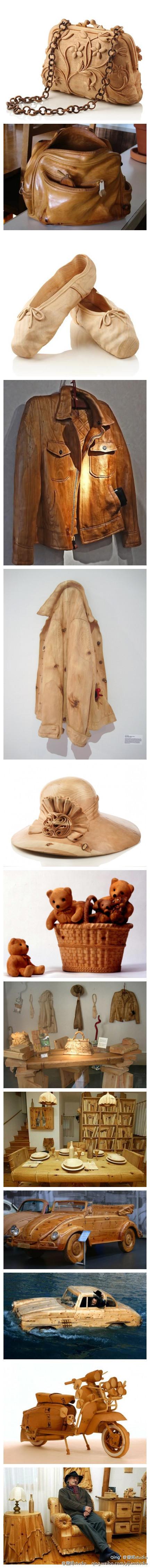 [【艺术创意】绝美的木雕艺术] - 太逼真了!