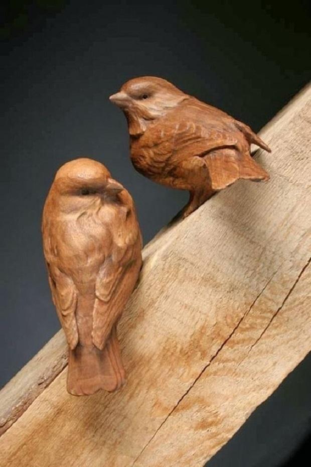 bird carvings