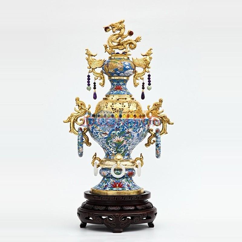 马福良龙凤呈祥熏——龙  花丝镶嵌工艺品