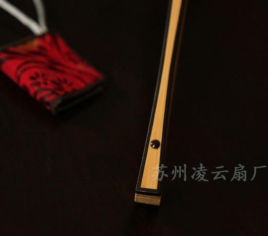 玉竹嵌红木工艺扇 - 盛风苏扇