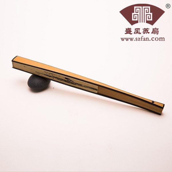 玉竹镶嵌工艺折扇直方 - 盛风苏扇