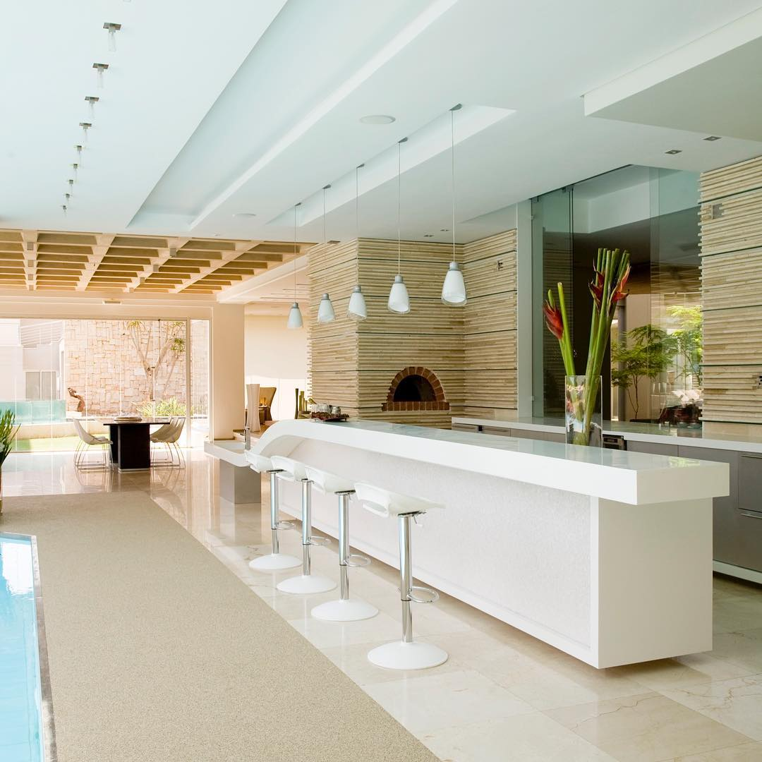 ..The Glass House | Indoor pool and entertainment area....luxuryhomes