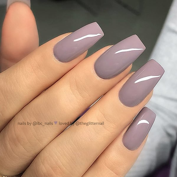Dusty Mauve on Squoval Nails  Nail Artist:  Follow them for more gorgeous nail art designs Turn on post notification, if you don't want to miss any of my posts