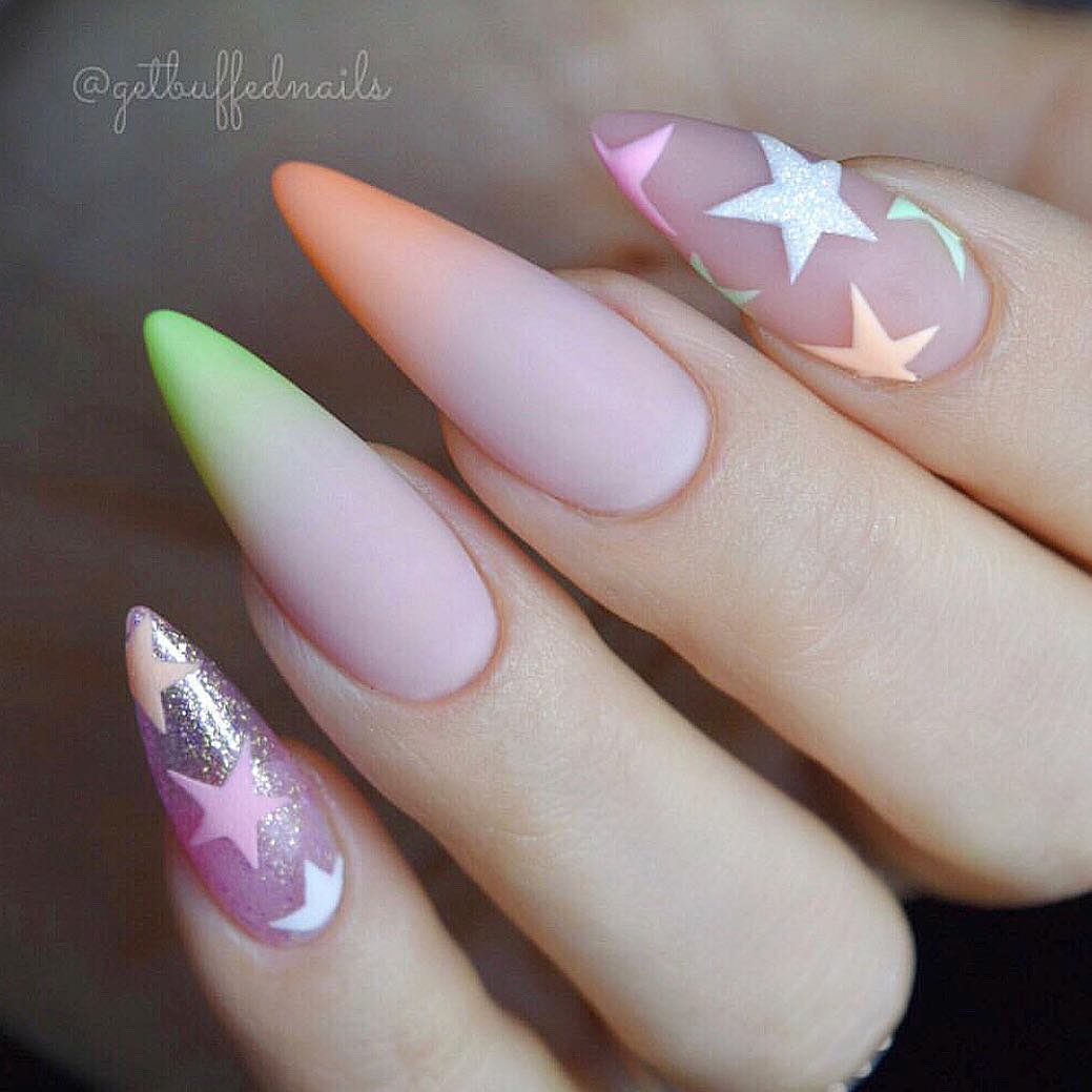 Beautiful nails by Ugly Duckling family member used:Premium Acrylic PowderPremium Liquid MonomerMatte Top CoatUgly Duckling Nails page is dedicated to keeping love, support, and positivity flowing in our industrynail