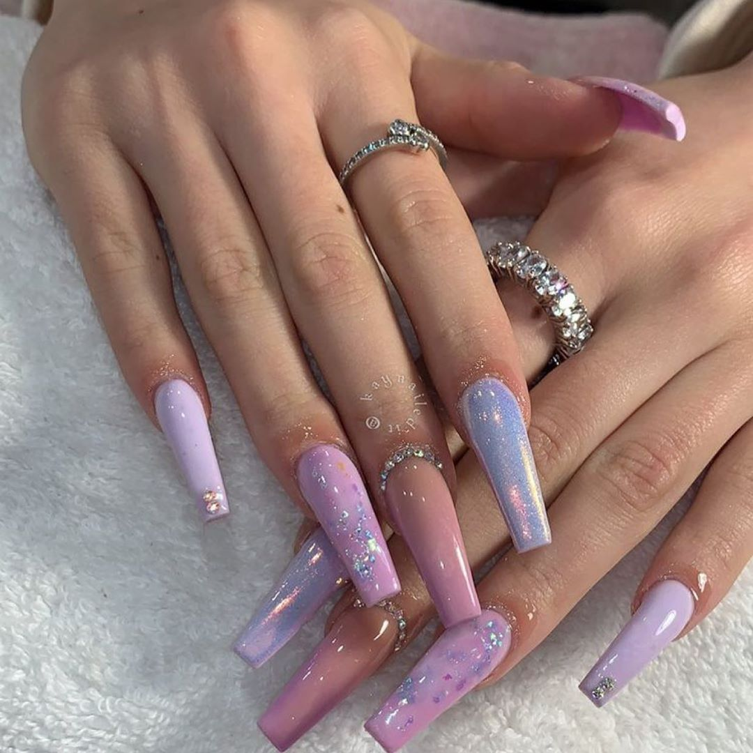 Mermaid Nails  Are yall feeling this set? .....   foilnails
