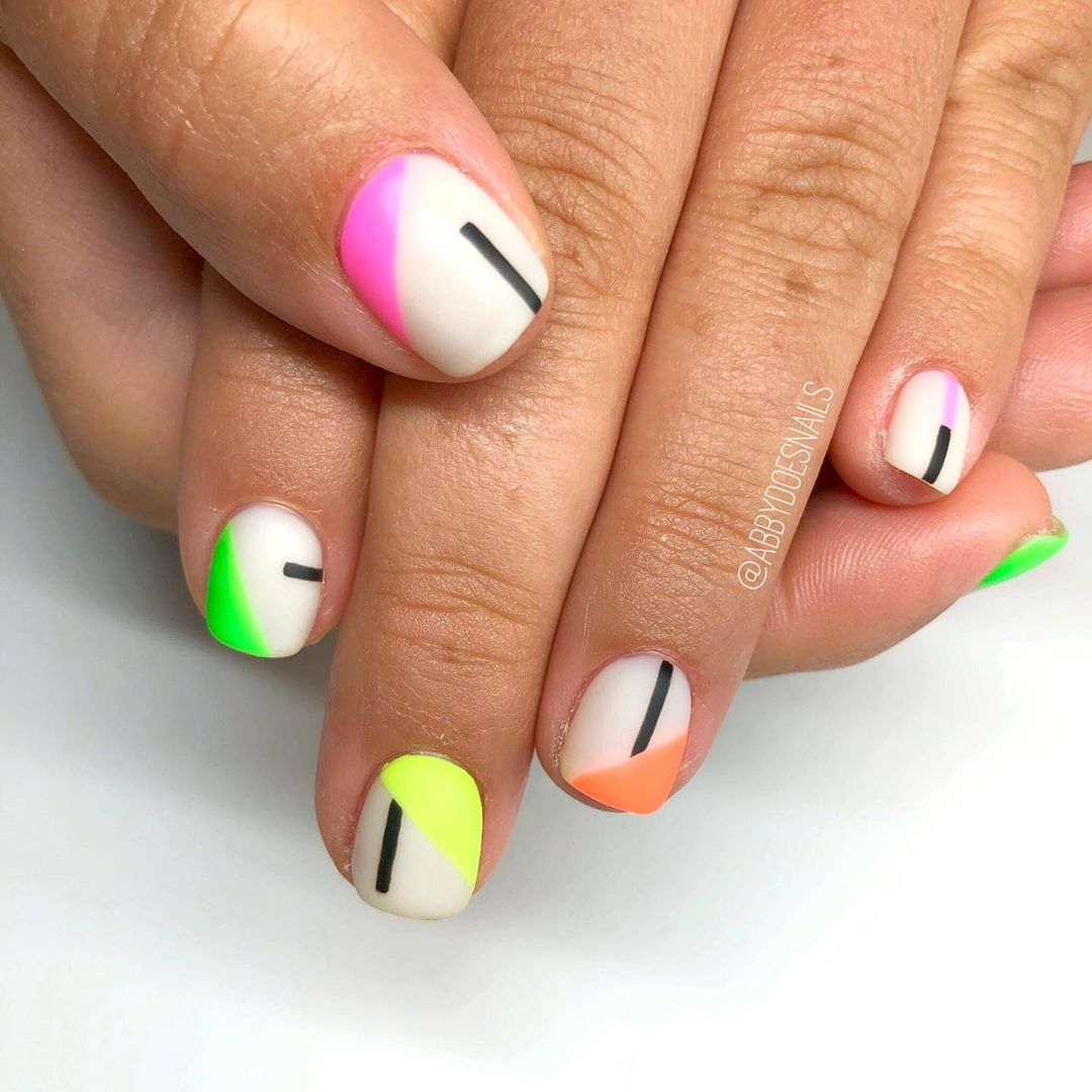 More neons comin atcha  inspired by utahcountynails