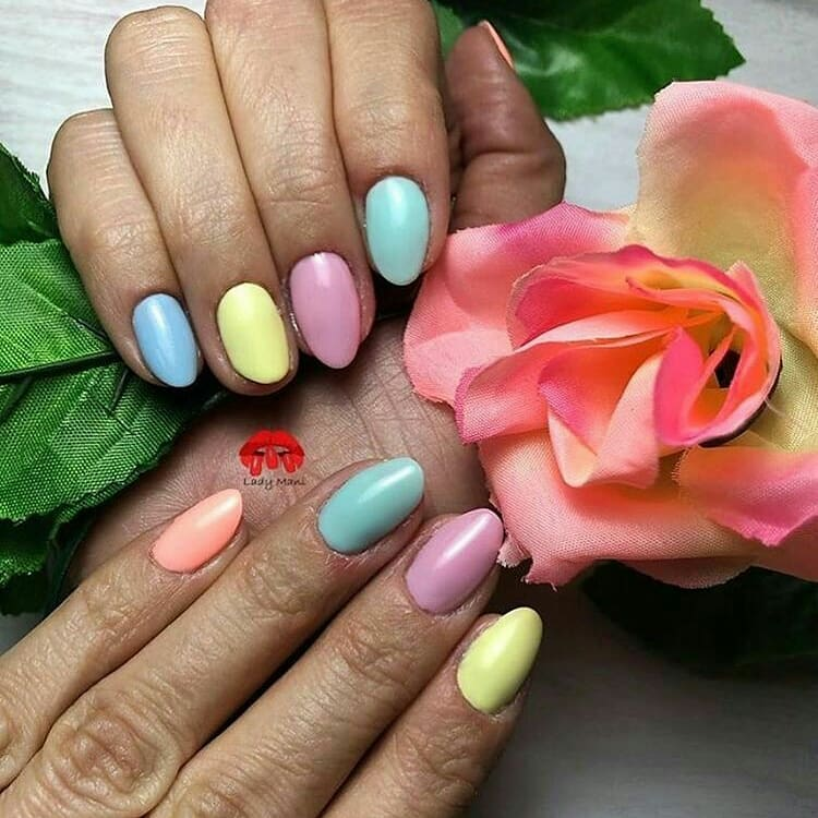 Colorful Manicure Daily show!!!How do you feel about putting diferent colors on the nails?Pic 1 via Ciliberti.jpgPic 2 via Pic 3 via colorful