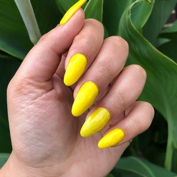 Rum Running Yellow set  did on the lovely ! ......  nailmagazine