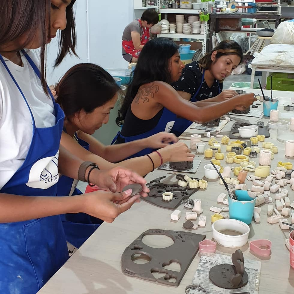 A hens' pottery workshop for the bride to be.wheremagicishandmade