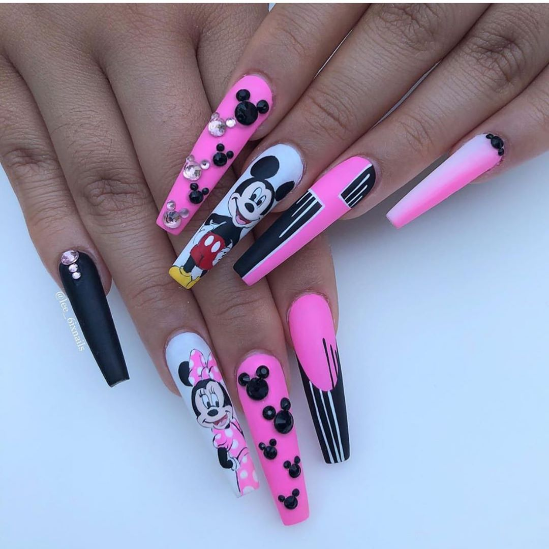 Mickey  Minnie nailpromote
