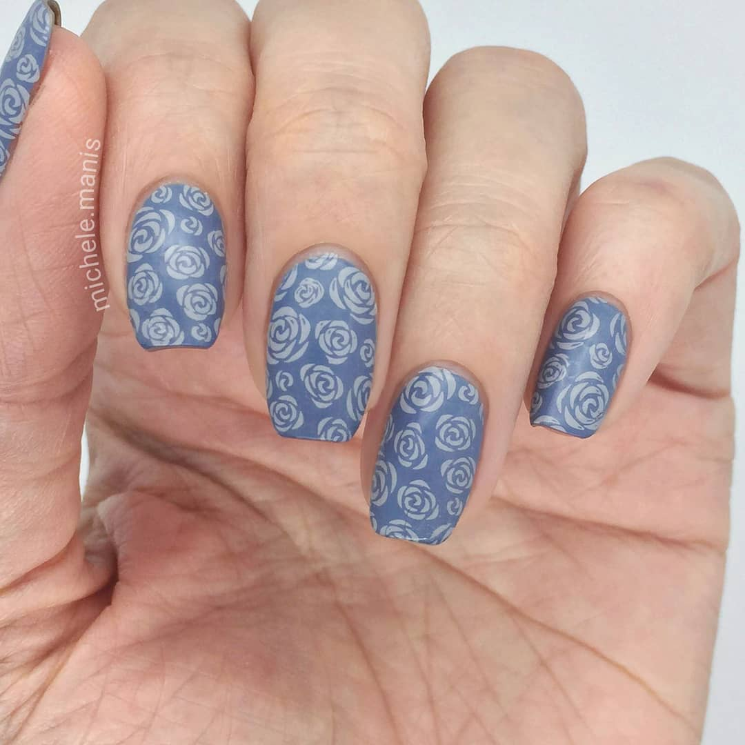 I've done this color combo before and I love it, it's got a vintage feel..- Jeans On- Flock of Seagulls stamping polish- XL-022*For a free ebook guide on nail stamping supplies, just go to the link in my profile or bit.lynailstampingguidenailartchallenge