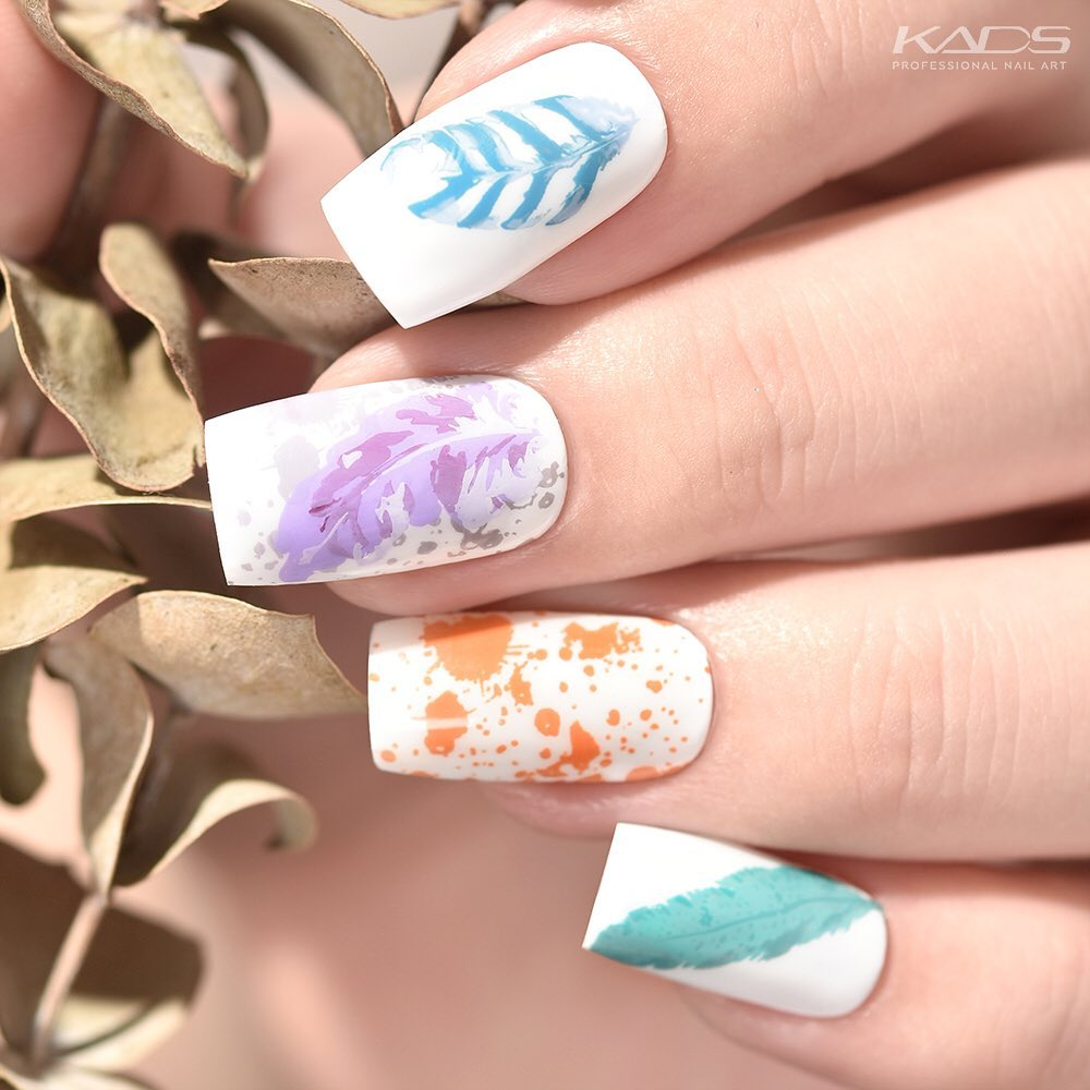 Nail design using KADS stamping plate Fashion 015 from AliExpress store(link in bio).  nailshop