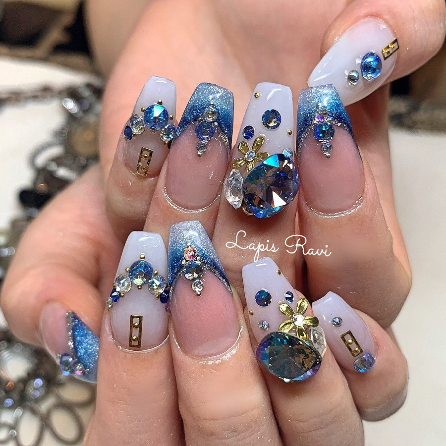 ^ ^ My nailBlue.. ..()..