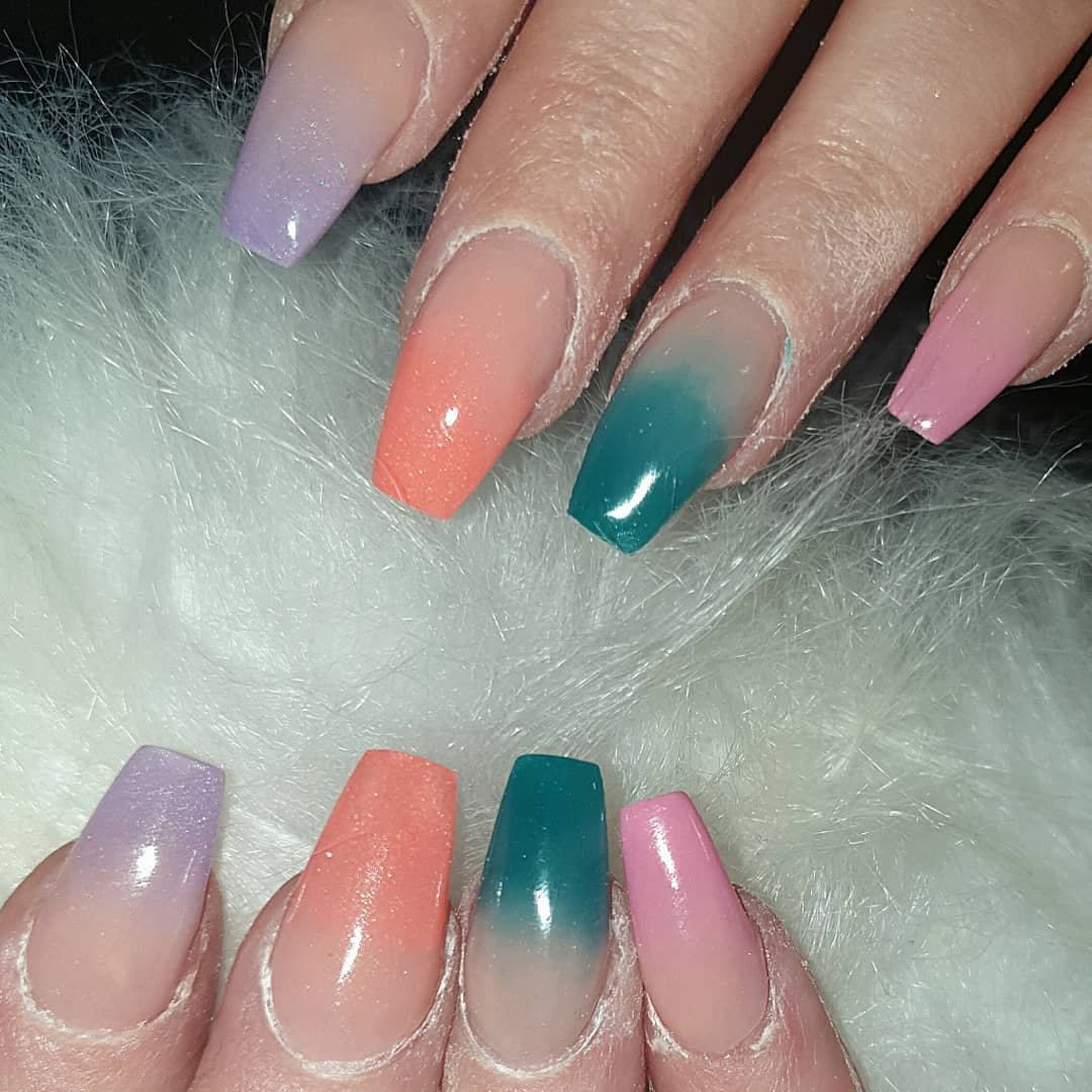 Bright ombres  in love  .... nailsonfleek