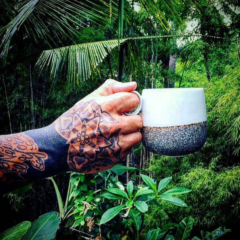 A jungle and a cool mug filled with coffee ... U cant really ask for more, isnt it?.by .Tattoo by .....    instacoolthemark