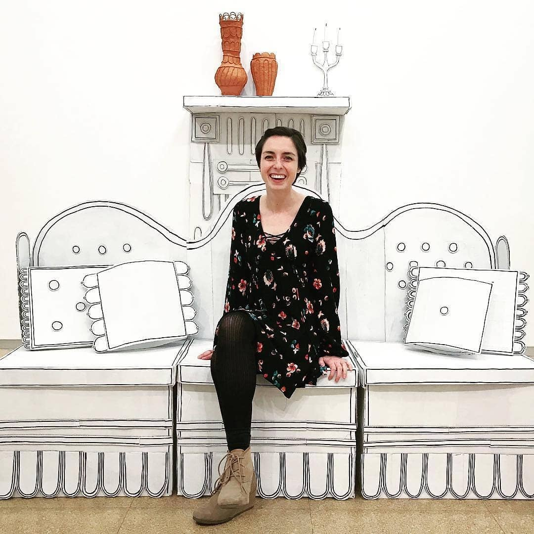 Hello everyone! Kyla Culbertson (for the 2019 Emerging Artist Takeover! This is my first post, so a want to start off with a little about me. I finished my BFA in May 2017 at Western Illinois University and just finished a post-baccalaureate program at the University of Iowa. I have recently relocated to Algoma, WI to be a resident atI love it here and helping with two great gallery spaces! This is me last December in a solo exhibition at the University of Iowa art gallery. Swipe right to see the full installation piece. I want to sincerely thankthis award. I am honored to have been chosen and to be included alongside such incredible artists. Thank you and congratulations to the other recipients! More from me soon! emergingartist