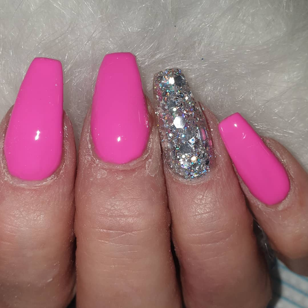 These though  this diamond chunky glitter is beaut  ....acrylicdesigns  nailsonfleek