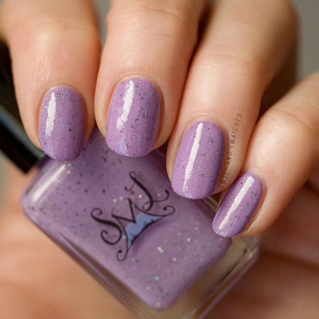 This sweet crelly makes the perfect Easter mani! This is Black Raspberry Sorbet by from the February Sugar Rush theme.Swipe for more!blackraspberrysorbet