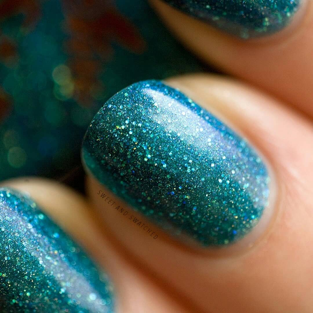 Here is the stunning and sparkly Cosmic Confection by from the February Sugar Rush theme. LOVE!!!Swipe for more!!holographicnails
