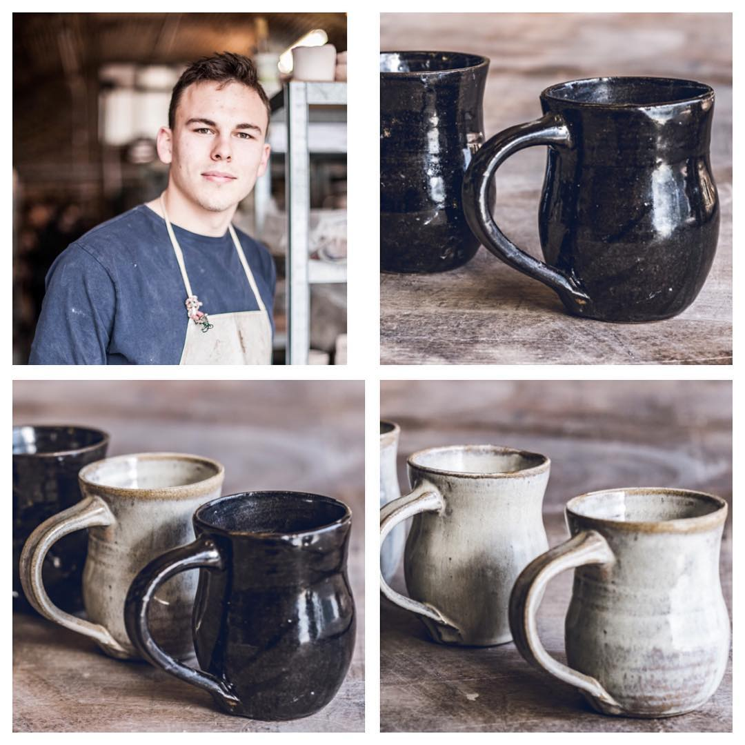 We are introducing the team who all work really hard to keep our studio running smoothly on a daily basis. They are our unsung heroes  Next up is our studio assistant and teacher Dom studied at Central Saint Martins for three years, graduating with a BA in Ceramic Design in 2015. He has been taught by a variety of different professional ceramists and potters, but also values the knowledge he has gained by extensively studying online tutorials on YouTube. Dominic specialises in throwing and slip decoration and started working as a Studio Technician at Turning Earth in July 2015. He regularly sells his work at Turning Earth studio sales.  makerspace