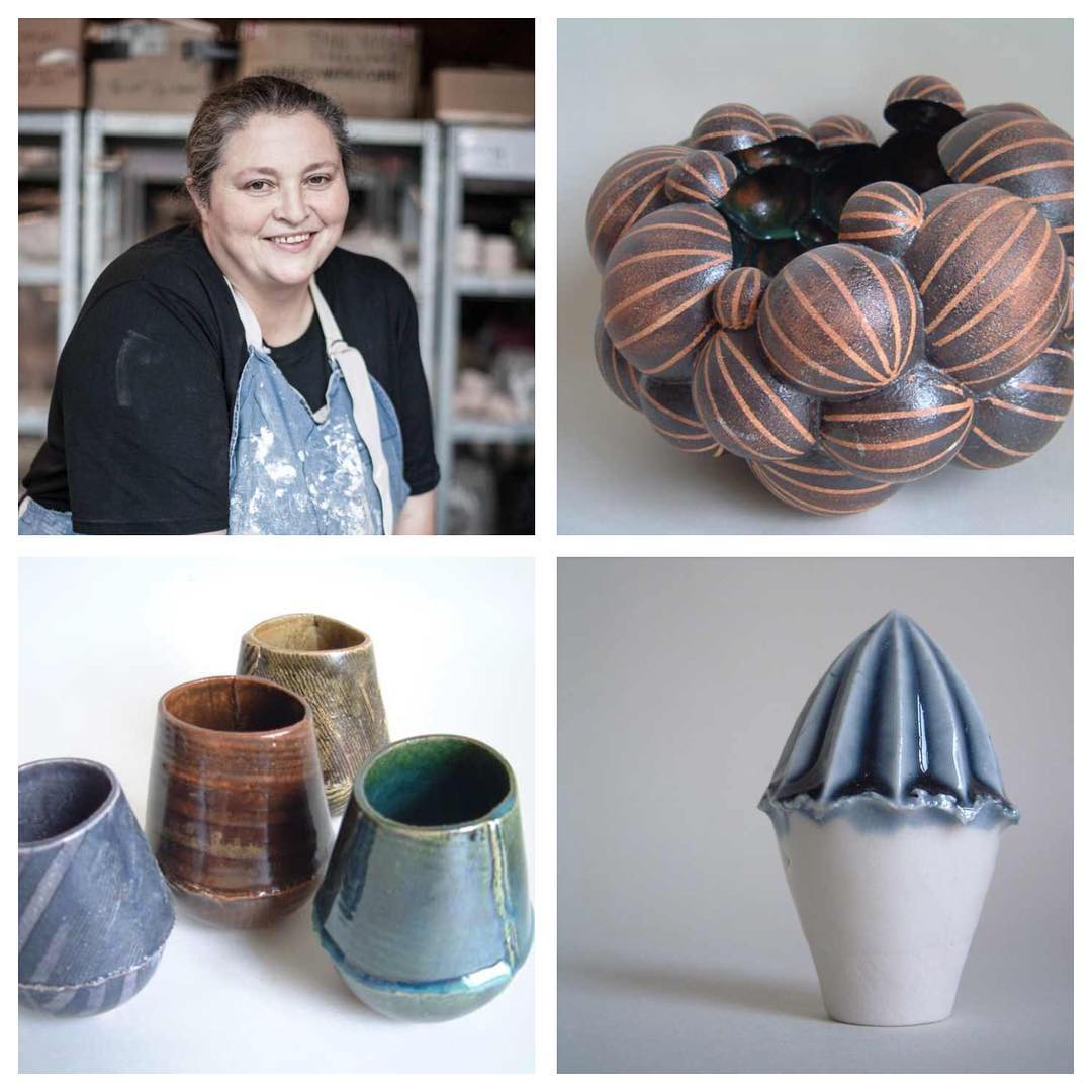 Continuing the introduction of our invaluable team. This is our teacher and mentor, Sarah Hall. She has a BA in Ceramics from Camberwell College of Arts, University of the Arts, London. She previously ran a business making kitchen and bathroom tiles and is trained in firing Anagama wood kilns. Currently she is working on hand-built, geometric forms and experimental slip-casting using coloured clay. Sarah has been working at Turning Earth since August 2014.  makerspace