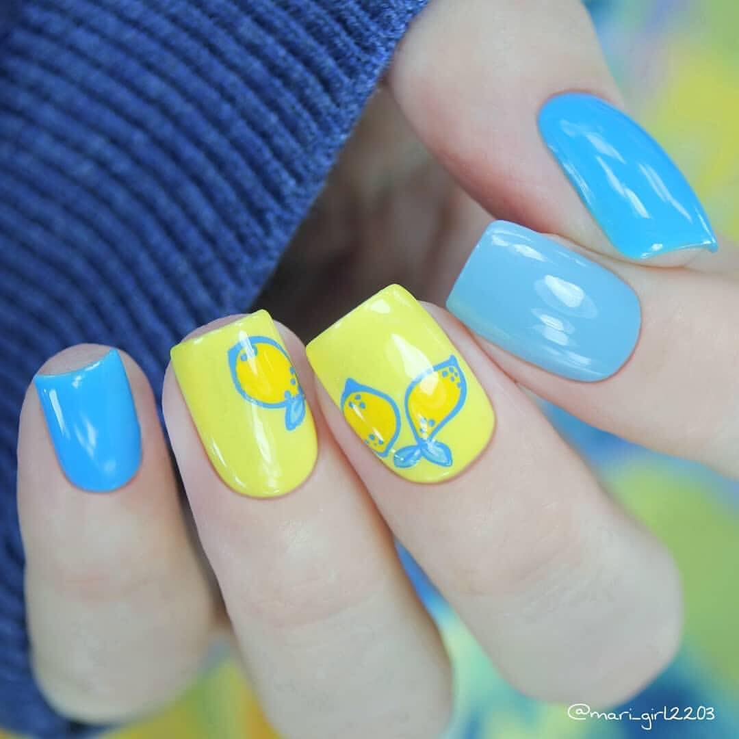 Adorable nails by using stamping plate Whats Up Nails - B008 Summer Seeds ($7.75 USD) available on our site WhatsUpNails.com (link in bio) and in store in Chandler, Arizona!We ship worldwide from Arizona, USA!fruitnailart