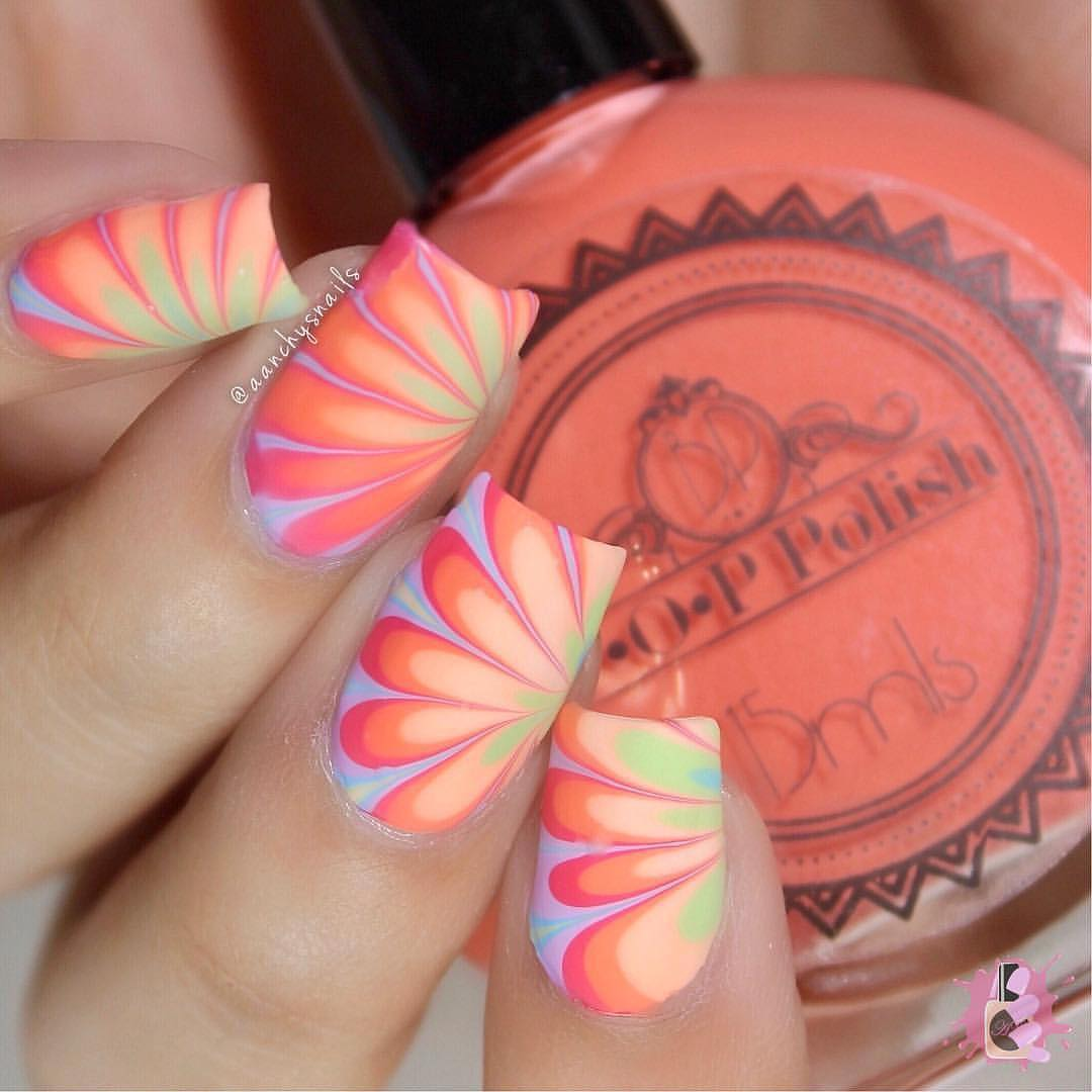 Amazing nails by using Whats Up Nails - Pure Color 7 Watermarble Tool ($7.75 USD) available on our site WhatsUpNails.com (link in bio) and in store in Chandler Mall (Arizona, USA)! We ship worldwide all products except polishes that we ship within USA only!naildesign