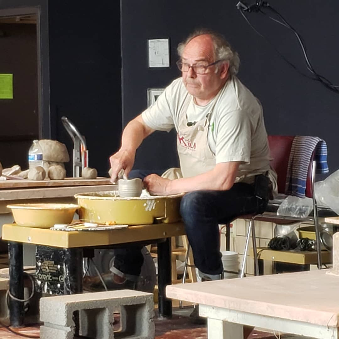 The third demonstrator for the Functional Ceramics Workshop is Tony Clennell (functional