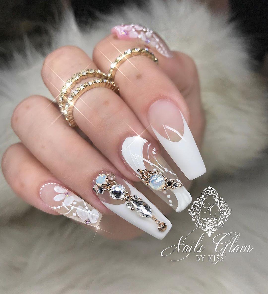 Perfect for a wedding  ....nailsonfleek