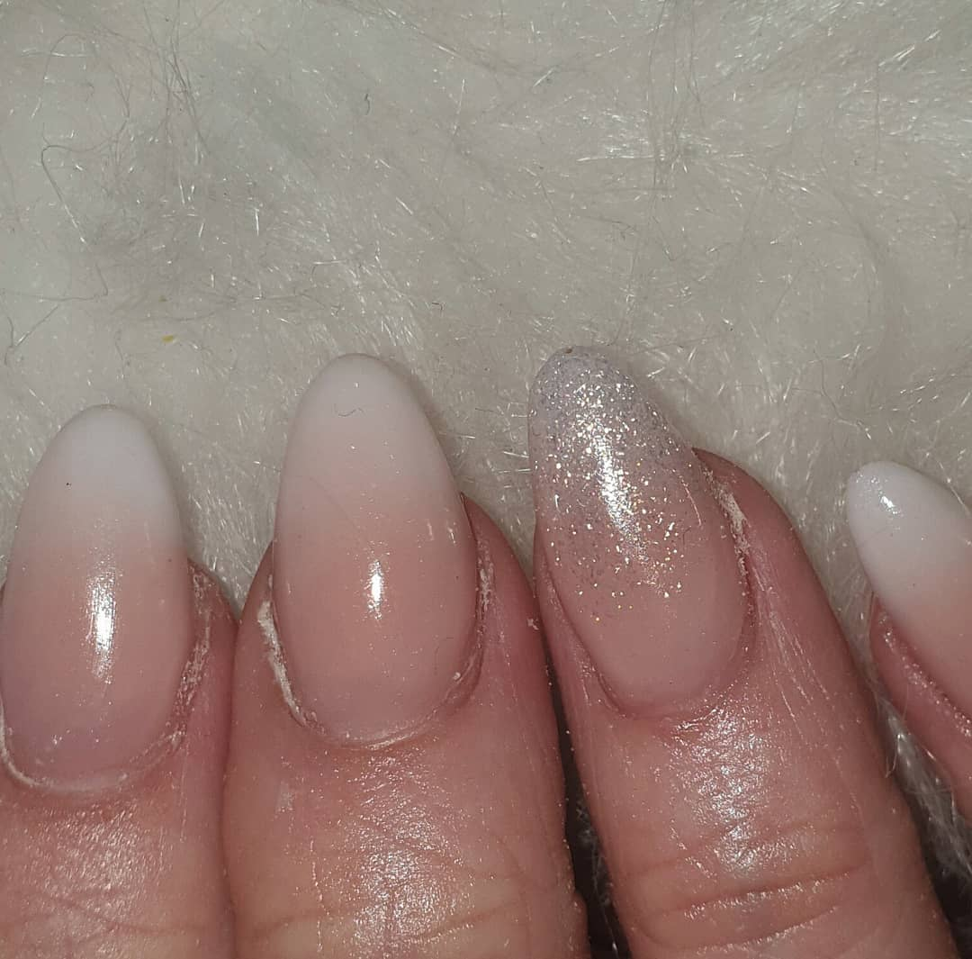 Love a French ombre using all Products used CJP birthday suit, coconut milk  I do  ....frenchombrenails