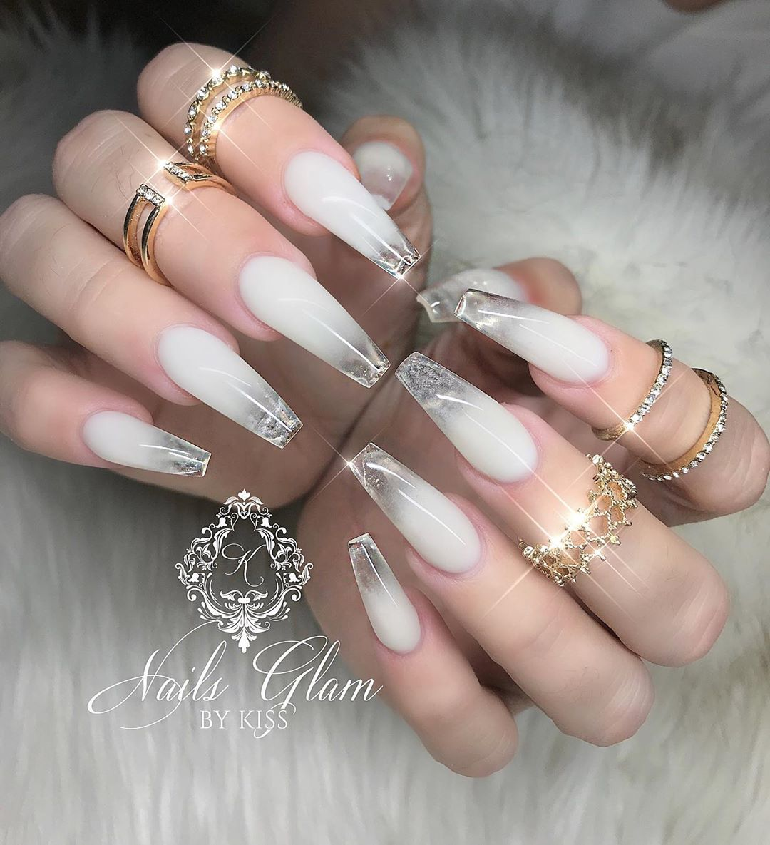 Marshmallow Ombr ....ombrenails
