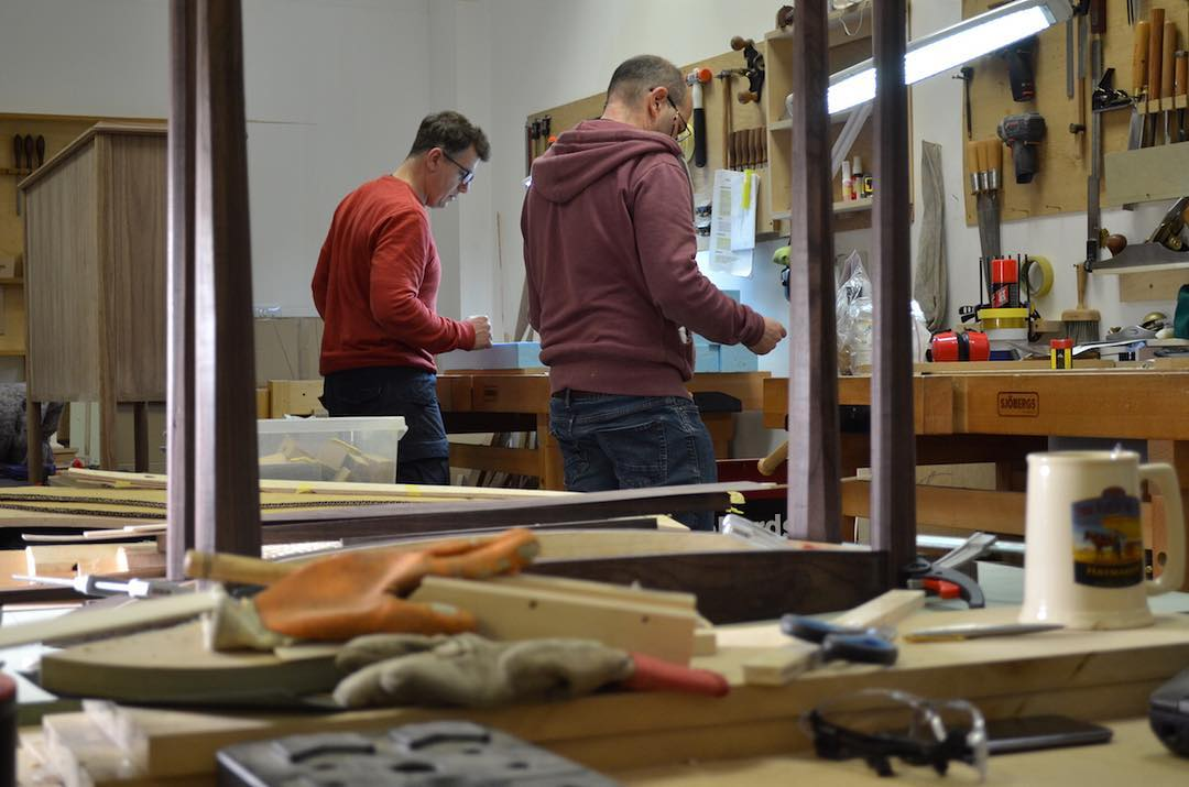 Designer maker students and are really focussed at the moment. Their self designed projects are well on the way and it's great to see such progress every day.