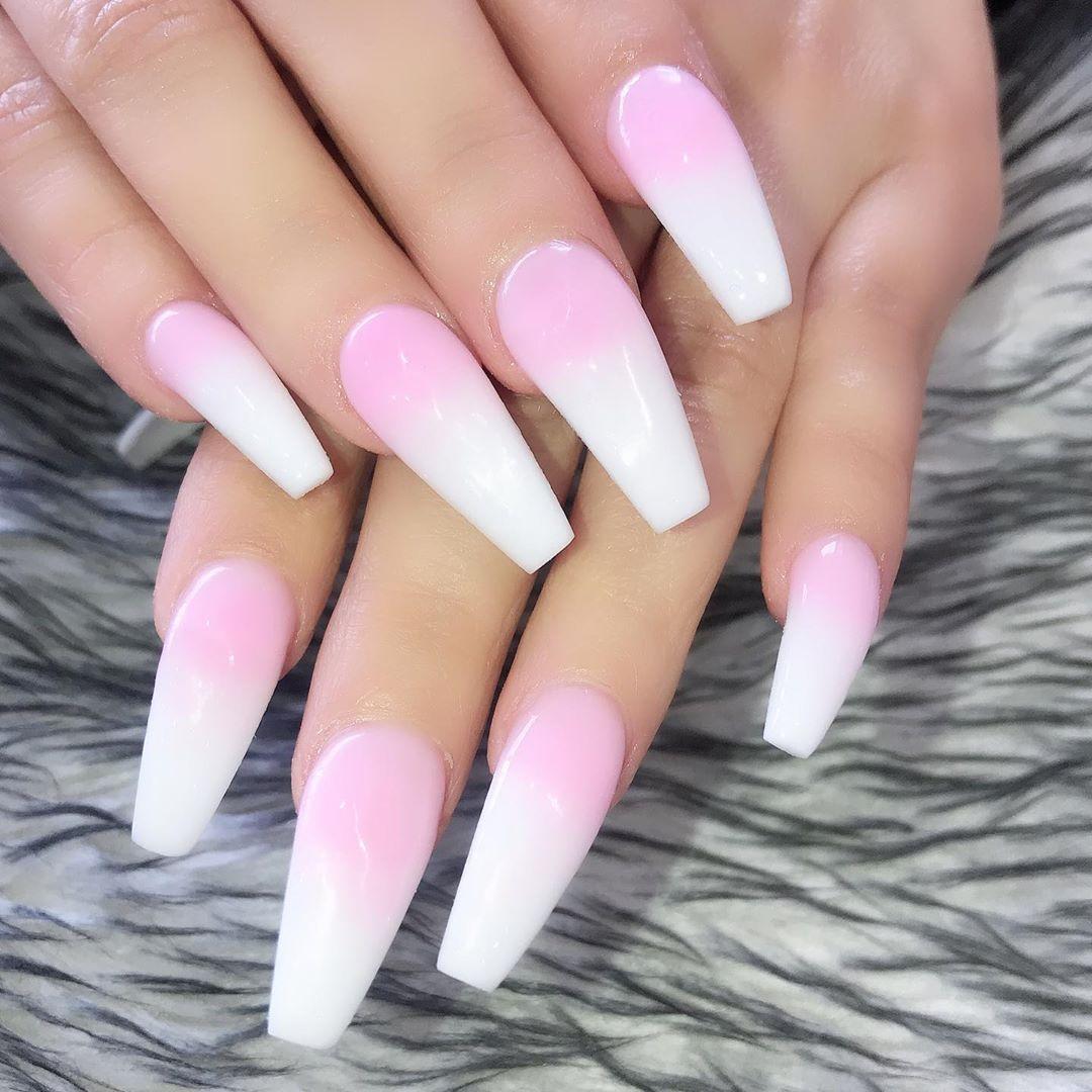Ombr pink+ Double tap  FOLLOW glitterombrenails