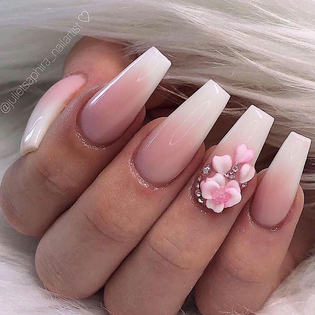 Such elegant nails by  dress up any nail design with beautiful cherry blossoms and petals  follow for more stunning inspiration  available to shop every Sunday at 3pm uk time, 4pm Europe time, 10am EST or 7am California  nailswag