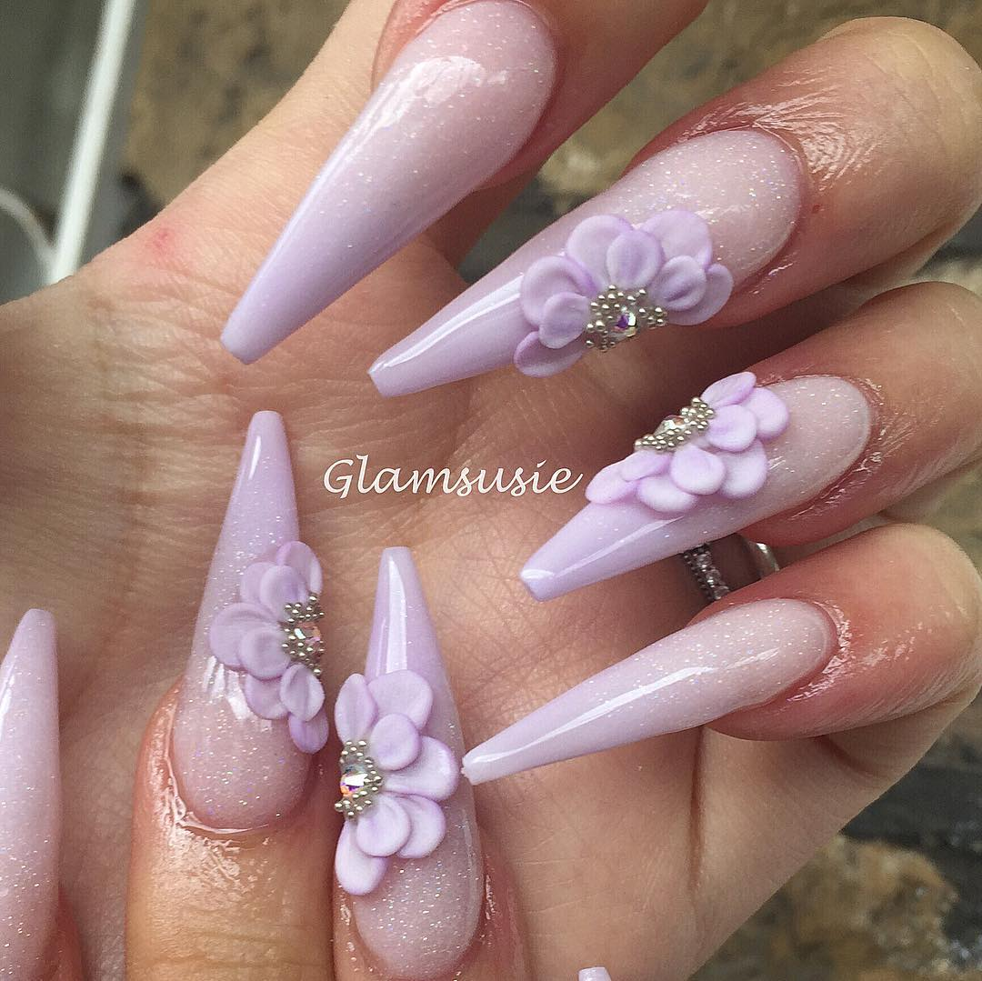 Im so loving the soft lilac ombr this spring  Im using premade flowers from my new collection Bejewelled Flowers  these ready made side flowers will be available on Sunday when I open at 3pm uk time, 4pm Europe time or 10am EST  nailswag
