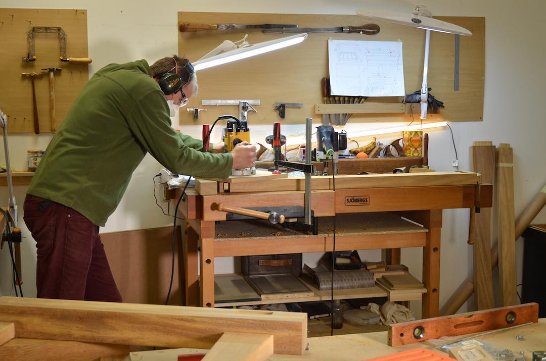 .... and Tom is making good progress making his bench. When complete it's going to take pride of place in his new workshop right here in the beautiful Lake District.