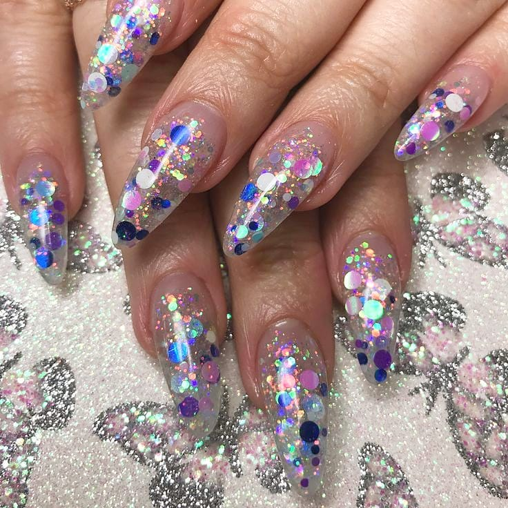 Party Nails Hope everybodys 4th went well! ......   foilnails