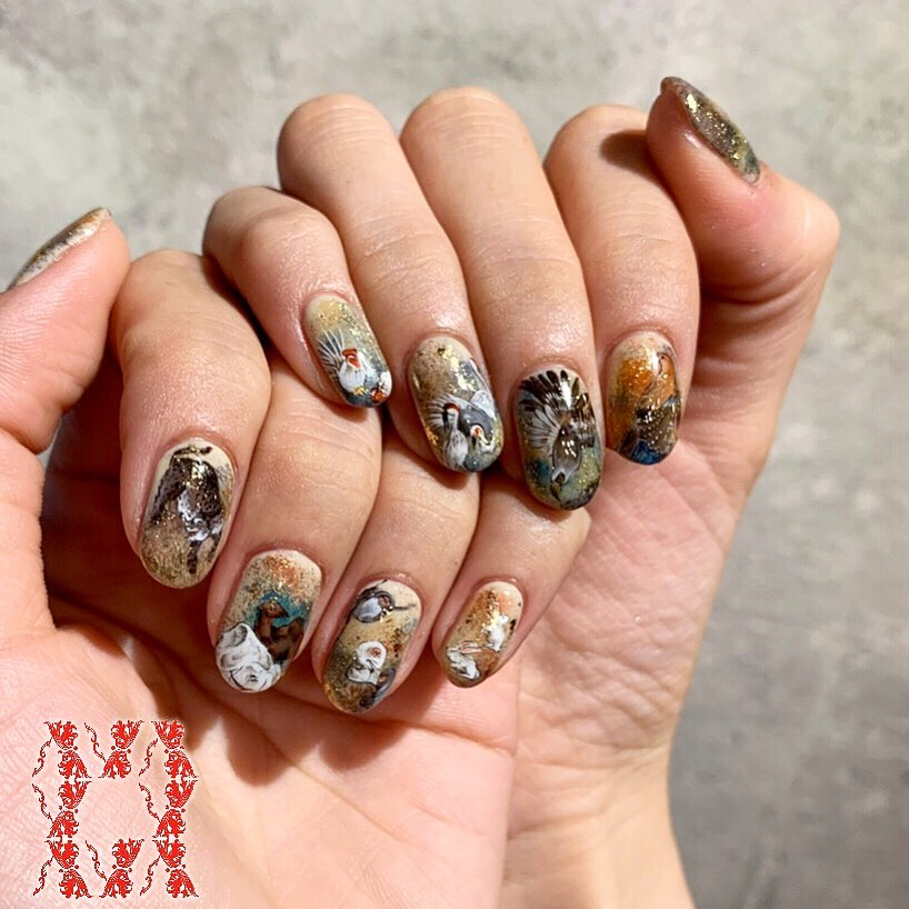Japanese style nail arts Produced by Call us for appointments!!(+81)3-6434-9692 or book with us from our website:)))  nailsalon-ava.comE-mail: info