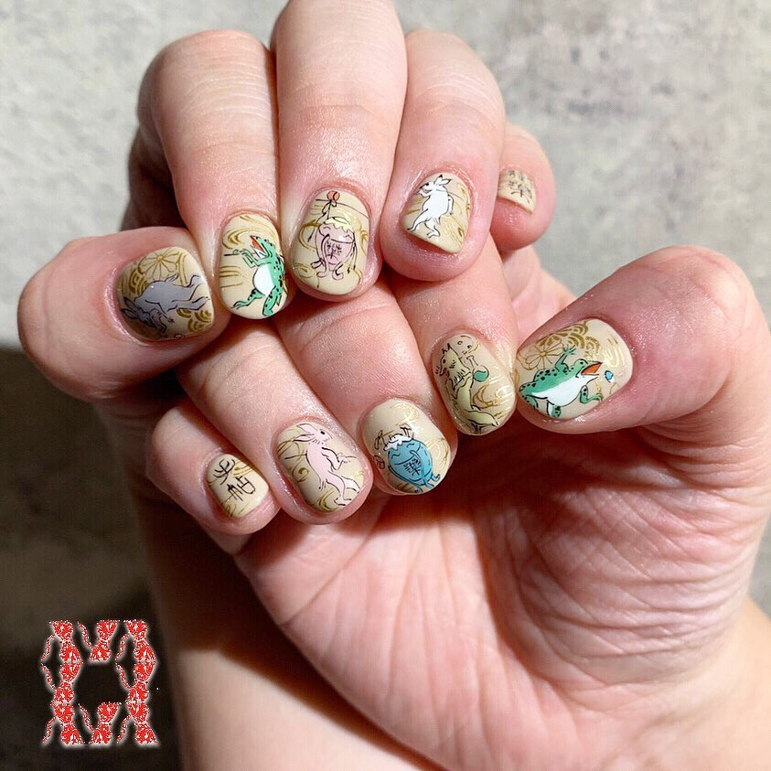 Japanese style nail artsProduced by Call us for appointments!!(+81)3-6434-9692 or book with us from our website:)))  nailsalon-ava.comE-mail: infonails