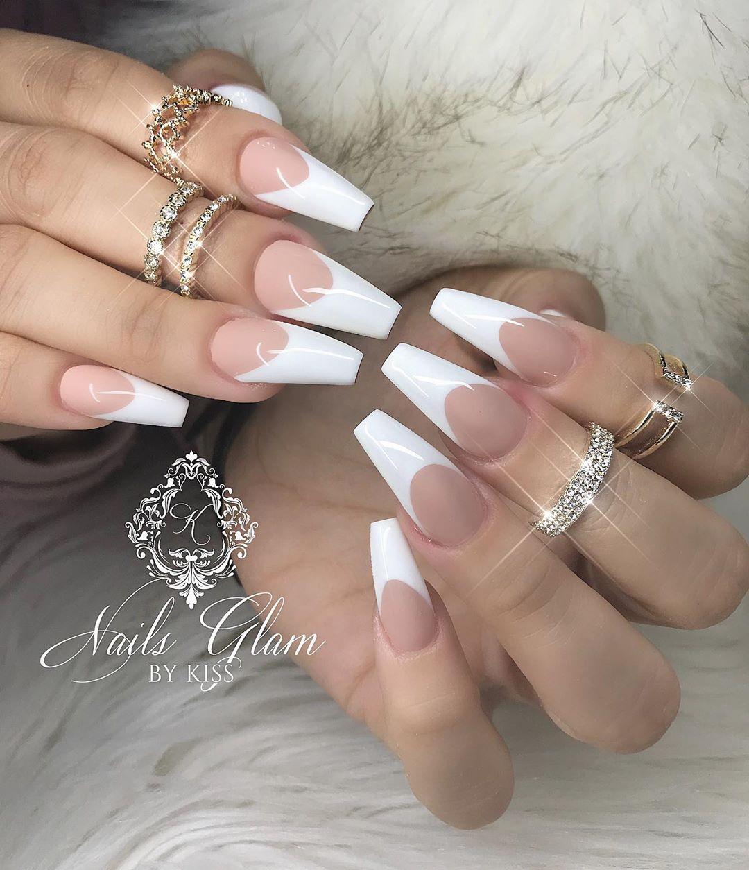 White French ....nailsofinstagram