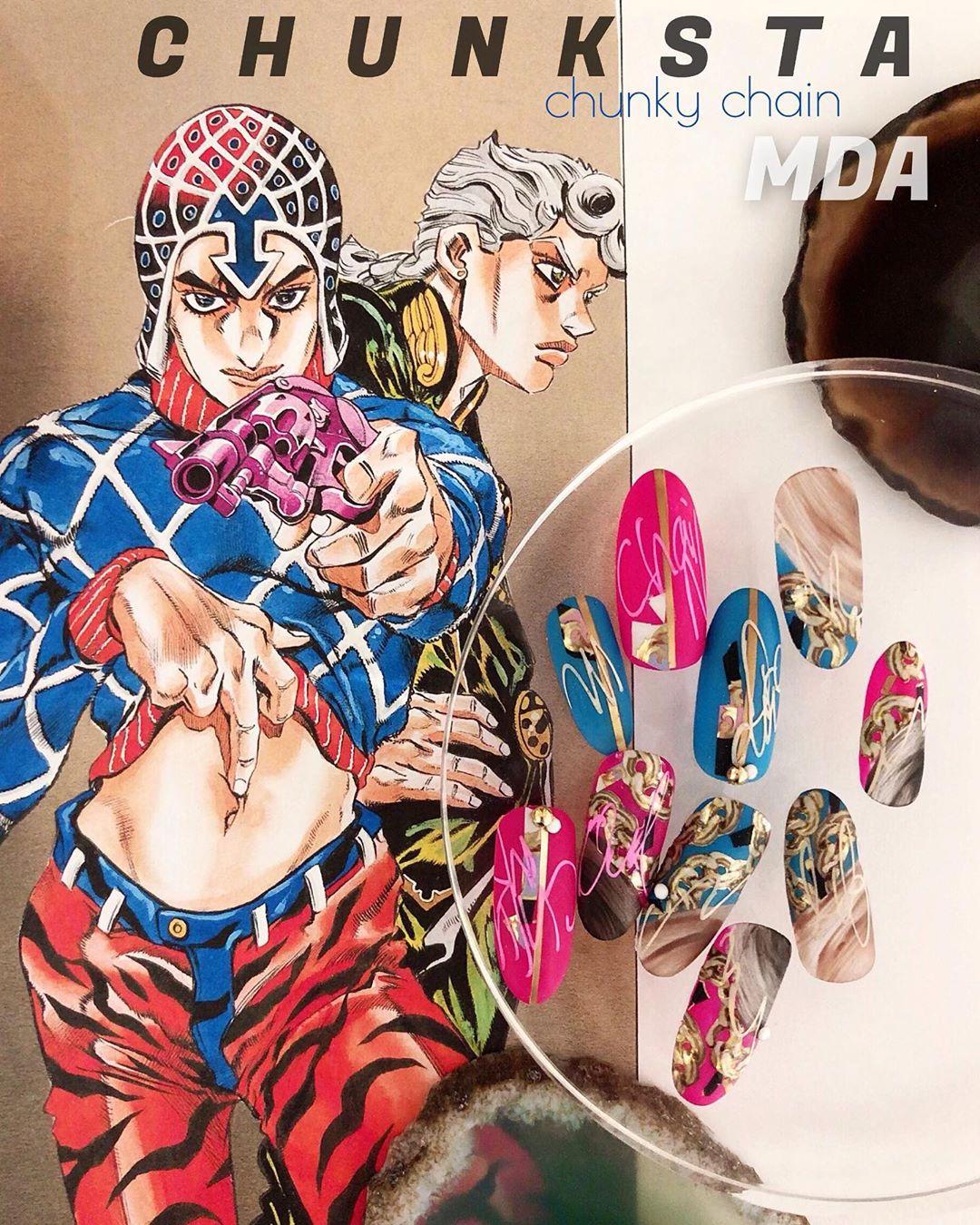 mdaCHUNKSTA  JOJO 5VERSACECHUNKSTA()mixCHUNKSTA ()!! !!ASIA NAIL fes.  81 These are homage to  JOJO. coming soon CHUNKSTA of chunky chain.it's the new material !check thi !!