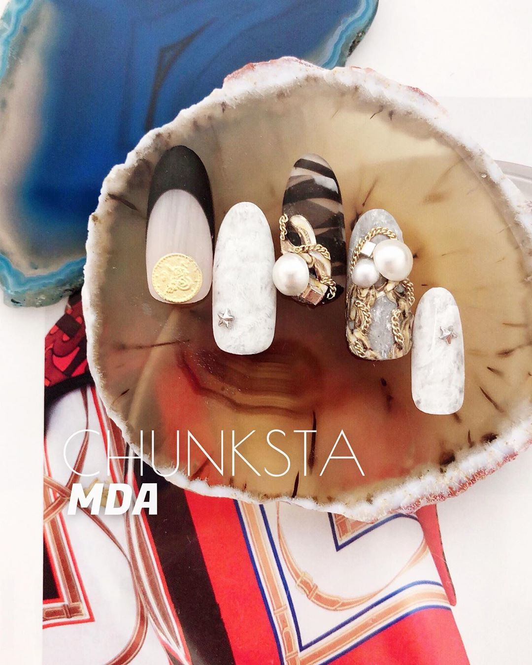 CHUNKSTA ()!! !!ASIA NAIL fes.  81  coming soon CHUNKSTA of chunky chain.it's the new material !check thi !!trendnails