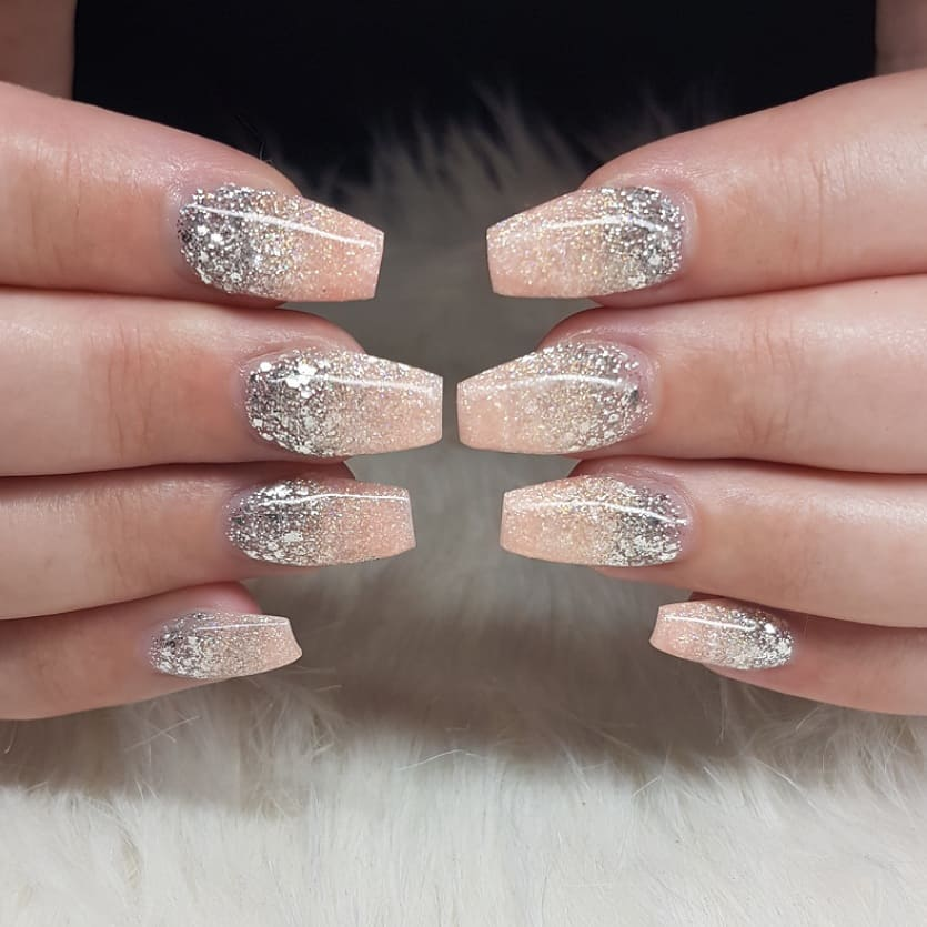 Glliitteerrr Nails made with productsFrom Products used: Ice Ice BabyPeachynailsofinstagram