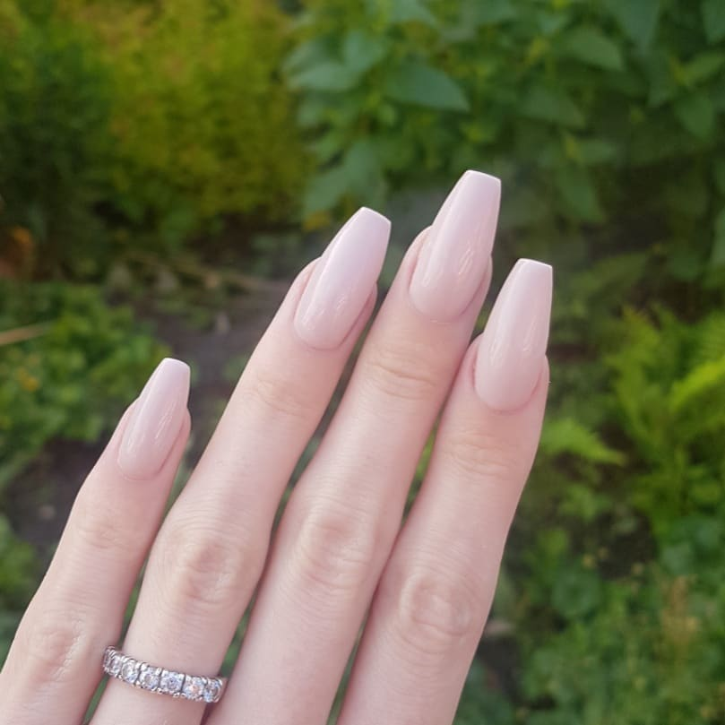 Was about time for a break from all the fun colors  Nails made with productsFrom Products used: Nude With Attitudenailsofinstagram