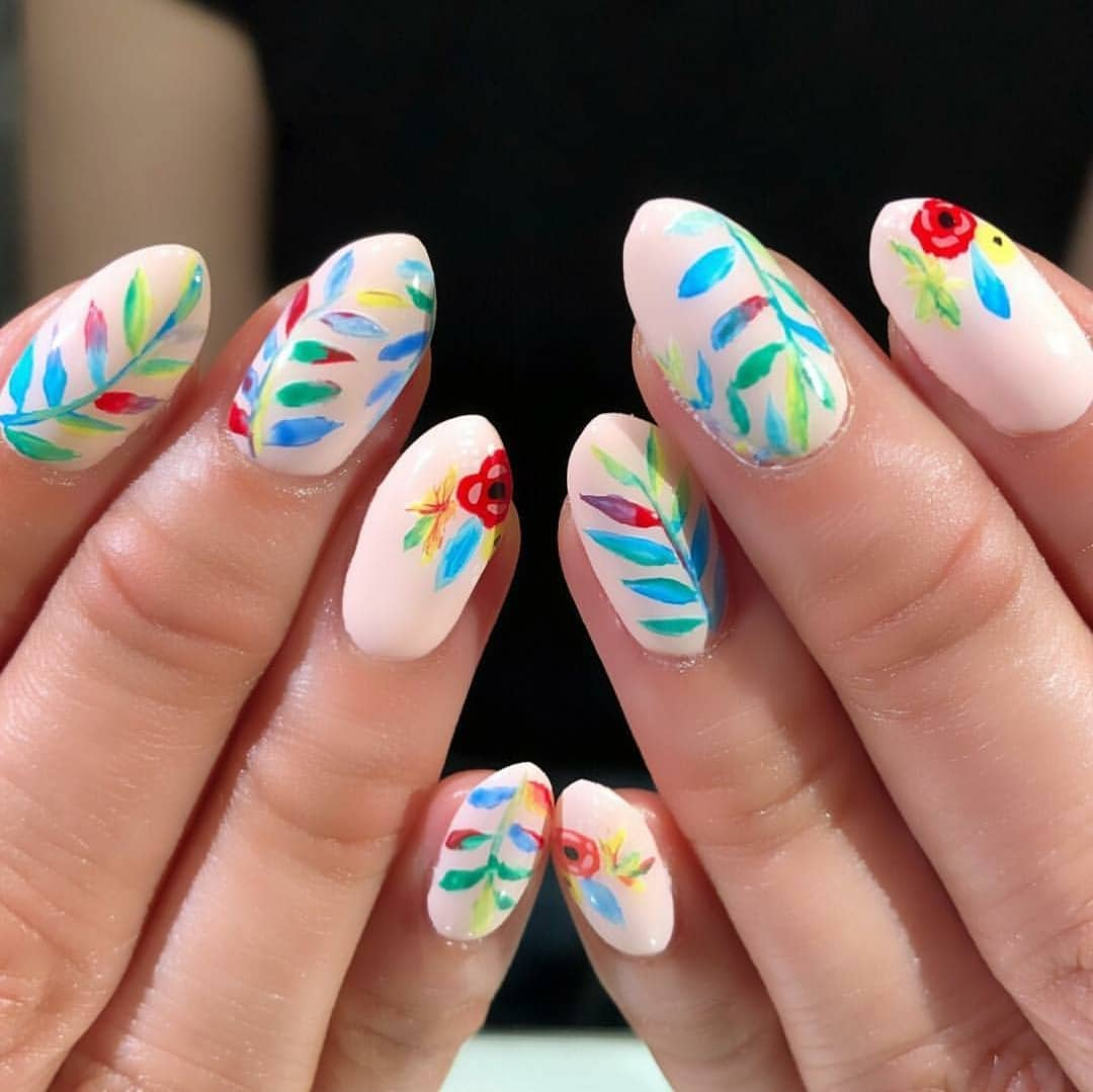 Tropical flowers by at .....summernails